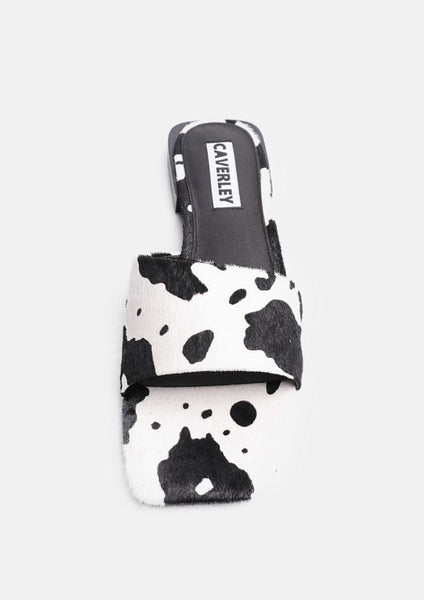 Harry Slide Cow Print Pony