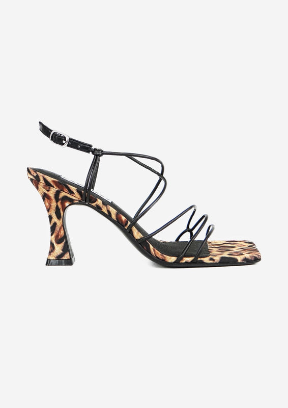 Molly Heel Leopard Satin