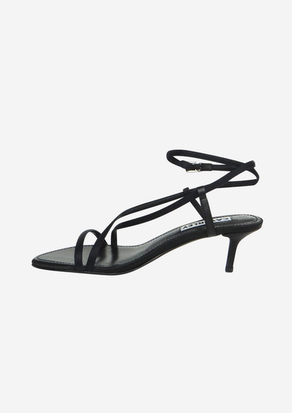 Sabine Heel Black Satin